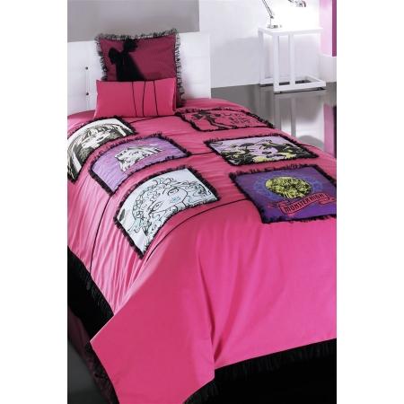 Sarev Lisanslı Tek Kişilik Yatak Örtüsü Monster High