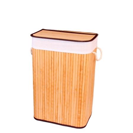 Gold Case Bambu Çamaşır Sepeti Dörtgen Naturel