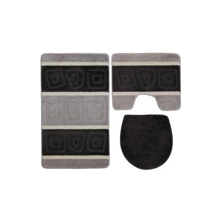 Gold Case Klozet Takımı Bny-60x100 3'lü Siyah