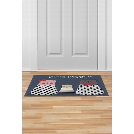 İç ve Dış Kapı Önü Paspası 45x70 CATS FAMILY