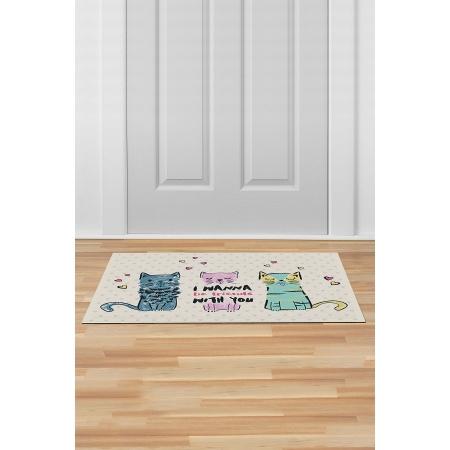 İç ve Dış Kapı Önü Paspası 45x70 CATS FRIENDS