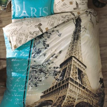 Gold Case Exclusive Ranforce Tek Kişilik Nevresim Takımı Paris in Love