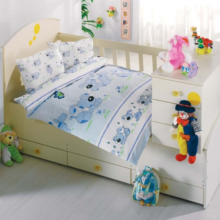 Altınbaşak Bebek Uyku Seti Sevimli Mavi