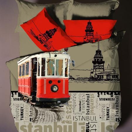 Hobby Poplin Çift Kişilik Nevresim Takımı City İstanbul-1