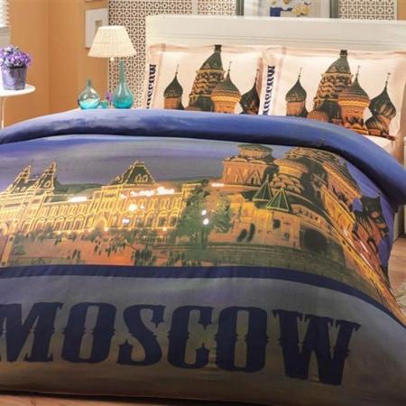 Hobby Poplin Tek Kişilik Nevresim Takımı City Moscow